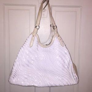 Large White Cole Haan Genevieve bag